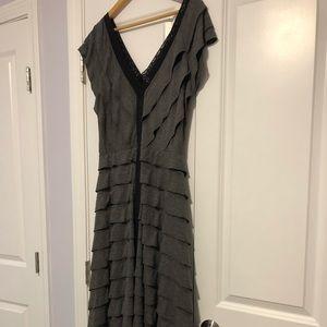 Free People Scalloped Cotton Jersey Maxi Dress L